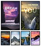 VIBRANT COLORS, TOP QUALITY Our Set of 6 handpicked stunning background pictures are printed with the highest quality ink, on top quality glossy 11 x 17 inch cardstock paper. Frames Are NOT Included. STUNNING PICTURES, POWERFUL MESSAGES Enjoy breatht...