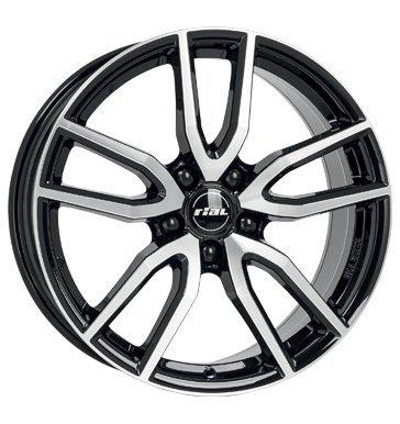 Rial Torino 8x18 ET35 5x112 diamant-schwarz frontpoliert