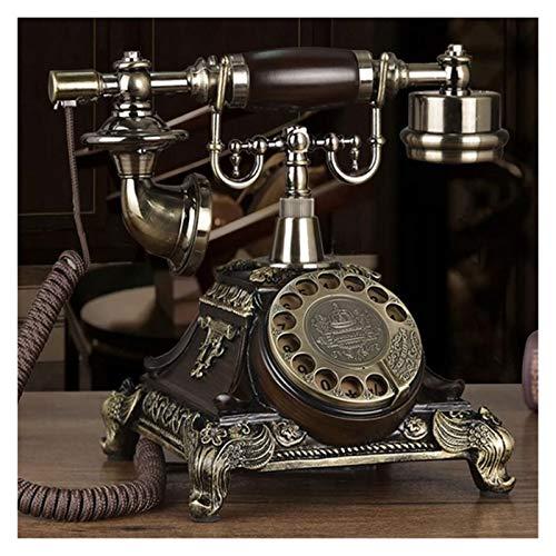 WSZMD Teléfono Pared Retro Antiguo Dial Rotativo Antiguo Teléfono Fijo Retro Casa Moda Creativo Teléfono Teléfono Fijo Teléfono Retro (Color : Rotary dial)