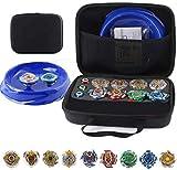 0BEST Conjunto de Peonzas Juguetes con Bolsa Portátil, 8 Gyros y 2 Turbo Lanzador Set, con Placa de Combate, Spinner Tops para Niños