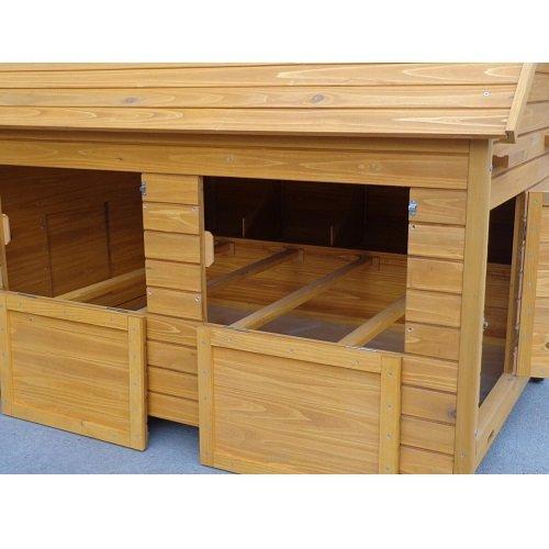 Cochinchina XXXL Hühnerstall aus Holz - 4