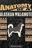 Anatomy Of A Alaskan Malamute: Alaskan Malamute 2020 Calendar - Customized Gift For Alaskan Malamute Dog Owner