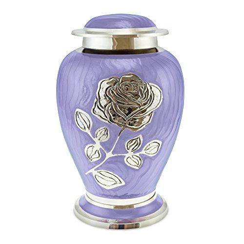 Cherished Urns Urne funéraire pour cendres pour adulte Motif floral Violet
