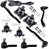 SCITOO 10PCS Front Suspension Kit - 1 Idler Arm 1 Pitman Arm 2 Lower 2 Upper Ball Joint 2 Inner 2 Outer Tie Rod End fit 1986 1987 1988 1989 For Toyota Pickup 4WD / 4Runner