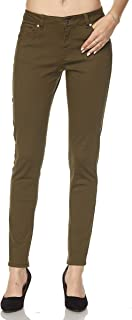 Women Stretch Cotton Twill 5 Pocket Cotton Skinny Pants