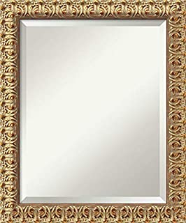 Amanti Art Framed Mirrors for Wall | Florentine Gold Mirror for Wall | Solid Wood Wall Mirrors | Small Wall Mirror 19.50 x 23.50 in. (B00444GPCU) | Amazon price tracker / tracking, Amazon price history charts, Amazon price watches, Amazon price drop alerts