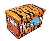 GMMH Hocker 49 x 31 x 31 cm Faltbarer Original Spielzeugbox Spielzeugtruhe Spielzeugkiste...