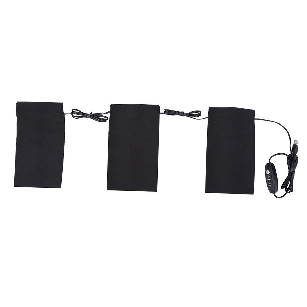 Alomejor 5V 2A 8.5W Almohadillas de calefacci/ón el/éctrica Almohadilla de calefacci/ón para la Ropa USB Almohadillas de calefacci/ón para el Campamento de Invierno al Aire Libre