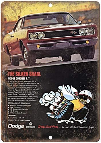 KODY HYDE Metall Poster - Dodge Coronet R/T Auto Car - Vintage Blechschilder Retro Dekoration Schild Aluminium Wandkunstplakat Zum Bar Cafe Büro Pub Wohnzimmer Garage