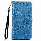 Hülle für Xiaomi Mi Note 10/Note10 Pro/Lite Hülle Handyhülle [Standfunktion] [Kartenfach] Tasche Flip Hülle Cover Etui Schutzhülle lederhülle flip case für Xiaomi Note 10 Lite/Pro - DESD011594 Blau
