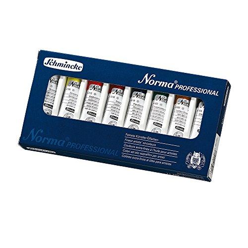Schmincke Künstlerfarben, Norma Professional Ölfarbe, Kartonset mit 8 x 20ml Tuben