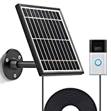Uncle Squirrel Solar Panel Compatible with Ring Video Doorbell 1(1st&2nd Gen(2020 release)), Waterproof Charge Continuously,5 V/ 3.2 W (Max) Output, Includes Secure Wall Mount,5.0M/16 ft Power Cable