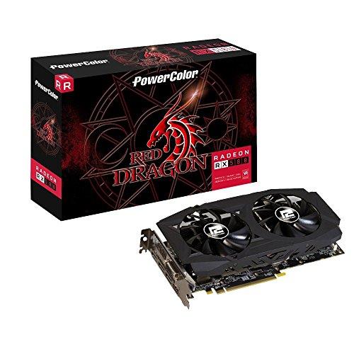 PowerColor AXRX 580 D5-3DHDV2/OC AMD Radeon RX 580 4 GB Rode Draak V2 Grafische kaart