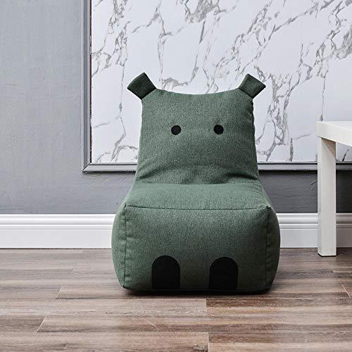 JIAHENGY Sofa Märchenfigur Kindercouch zum Spielen,Kindersofa, Kinder-Cartoon-Sofahocker, abnehmbares und waschbares einsitziges kleines Sofa-Grün