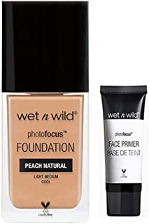 Wet Wild Photo Focus Foundation Bonus Mini Free Primer (Peach Natural 367C)