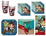 Jake and the Neverland Pirates Birthday Party Supplies Set Plates Napkins Cups Kit for 16 Plus Tablecover by Hallmark