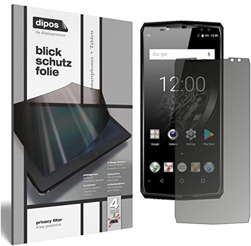 dipos I Blickschutzfolie matt kompatibel mit Oukitel K10 Sichtschutz-Folie Bildschirm-Schutzfolie Privacy-Filter