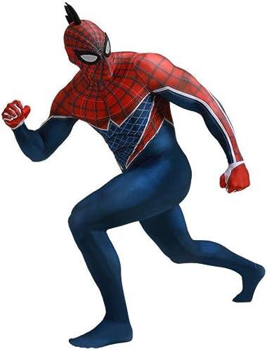 Entrega directa y rápida de fábrica Sombrero del Traje del Cosplay Cosplay Cosplay De Spiderman del Niño Adulto Incluyendo La Cresta De Gallo Disfraces del Disfraz del Partido De Disfraces De Halloween Avengers Iron Siamese Tights,Kids-XS  mejor moda