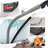 Holikme 2 Pack Dryer Lint Vacuum Attachment and Flexible Dryer Lint Brush, Dryer Vent Cleaner Kit, Vacuum Hose Attachment Brush, Lint Remover, Grey