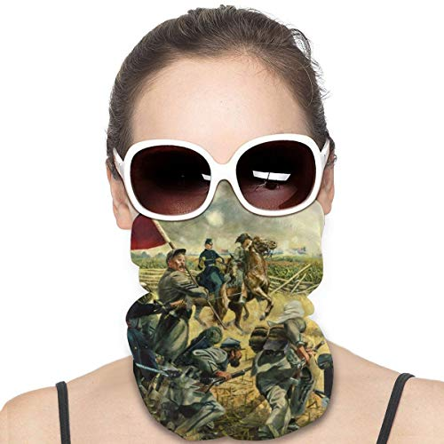 Pintura al óleo americana de la guerra civil a prueba de viento escudo de cara multiuso para la cabeza, bandana, pasamontañas para el cuello
