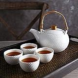 Tea Set Household Ceramic Tea Set A Pot Of Four Cups Set Creative Afternoon Tea Cups Kung Fu Camellia Teapot Tea Set