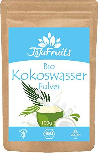 JoJu Fruits - Bio Kokoswasser Pulver (100g) - Superfood aus Kokosnusswasser