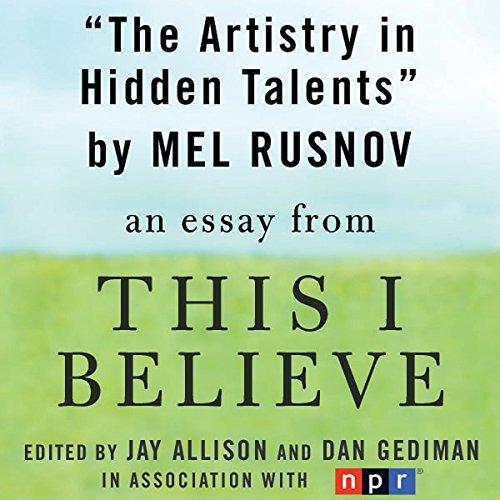 The Artistry in Hidden Talents audiobook cover art