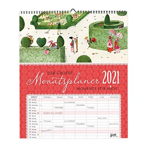 XXL Familienplaner 2021 zum Aufhängen | Kalender Planer Monatsplaner mit 7 Spalten pro Monat| Wandkalender für große Familien oder WGs, mit Ferienterminen