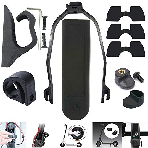 chuancheng for Xiaomi Mijia M365/M365 Pro M187 Electric Scooter Accessories Pack Set 1 Hook, 1 Rear Fender Support, 1 Dashboard Cover, 3 Rubber, 1 Fender Hook, 1 Cover, 1 Wrench Buckle (Black)
