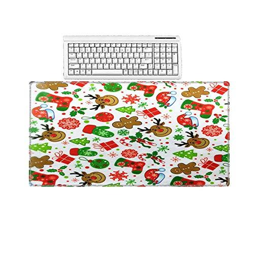 HonGHUAHUI muismat van rubber grote maat behang dieren wit achtergrond laptop tapijt Home 400X900X5MM A011