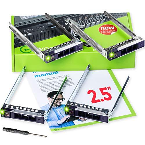 WORKDONE 4 Pezzi - Caddy per Disco Rigido da 2,5 Pollici per Server PowerEdge dell - R440 R640 R740 R740xd R840 R940 R6415 R7415 R7425 DXD9H di 14° Ge
