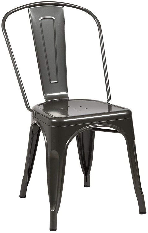 Tolix Style Dining Chair, Gunmetal