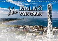 Malmoe von oben (Wandkalender 2022 DIN A4 quer): Malmoe, die moderne Stadt in Suedschweden (Monatskalender, 14 Seiten )