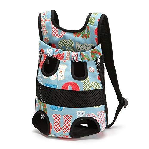HUANGRONG Fashionable Durable Pets Dog Legs Out Front Dog Carrier Backpack Bolsa De Pet Dog Carrier Bag Pet Puppy Pet Backpack (Color : Bf, Size : L)