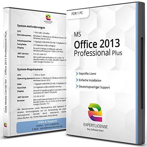 Office 2013 Professional Plus - ExpertLicense 32/64 bit ISO DVD + Lizenzschlüssel per E-Mail - inkl. aller aktuellen Updates - Deutsch