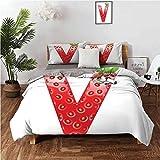 Best pima v egyptian cotton sheet - Letter V Bed Sheet Set, ABC of the Review