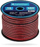 InstallGear 12 Gauge Speaker Wire (250-feet - Red/Black)