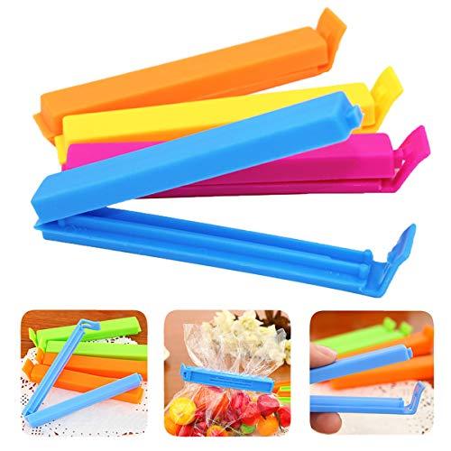 TheStriven 30 Stück Tütenclips Snacks Beutel Verschluss klammern Beutelklammern Verschlussclips Verschluss Klemmen für Tüten Verschlussklammern in verschiedenen Größen und Farben