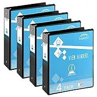 XHSHENG 2インチリングバインダー カスタマイズ可 ビューバインダー 2つのポケット付き オフィス/靴/自宅用 6パック