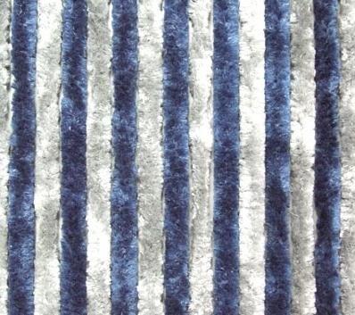 Chenille fleecegordijn gordijn vliegenbescherming 56 x 185 cm blauw-grijs NIEUW
