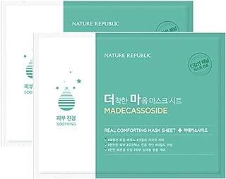 Nature Republic Real Comforting Mask Sheet, 2 Sheet (Madecassoside_Emulsion Type)