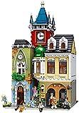 kyman - Conjunto de Edificios, Arquitectura City Street View Cafe Corner Building Blocks, 3D DIY Puzzle Modelo Grande Bricks Toy
