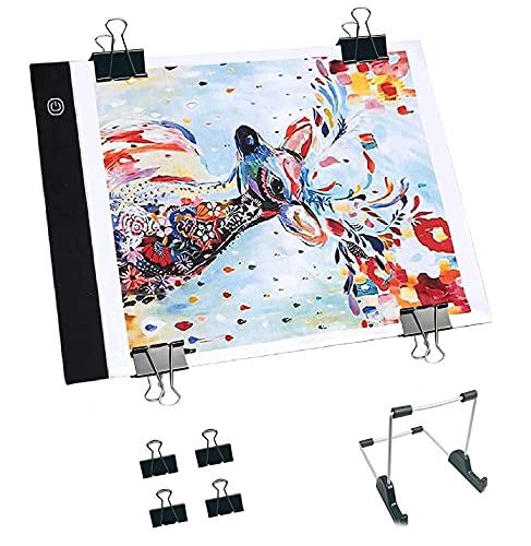 INSANYJ Tavoletta Luminosa, Light Box A4 LED Light Pad di Disegno con Cavo USB,Ultrasottile Lavagna Luminosa per disegnare Gli Artisti, Disegno, Animazione, Abbozzare, Progettazione (3-Level)