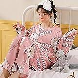 JJHR - Pijamas de algodón imprimado de Bande dessinée Ensemble de nuit Pour Filles douces-c_2XL