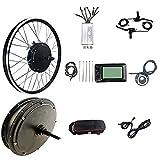 SKYWPOJU Kit de Moteur de vélo électrique de Roue arrière de Moteur sans Brosse Kit de vélo...