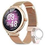 NAIXUES Smartwatch Mujer, Reloj Inteligente Impermeable IP68, Pulsera de Actividad Inteligente con Monitor de Sueño...