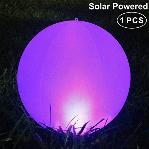 Luci solari da esterno, 14'' Solare per giardino LED a Energia Solare, IP68 Impermeabile Luce,Lampada solare Colori Regolabile per giardino/laghetto/piscina/festa(1PACK)