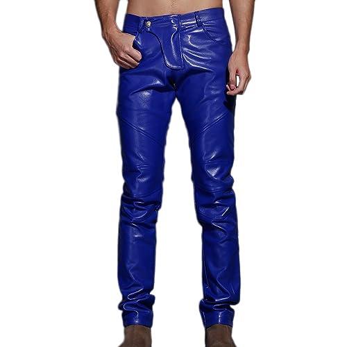 4de965e028916 Blue Leather Pants: Amazon.com