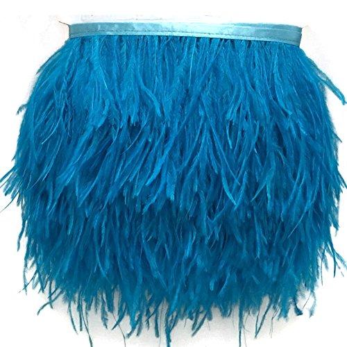 KOLIGHT - Paquete de 4,5 metros de plumas de avestruz teñidas naturales, de 9 a 12 cm, para decorar vestidos, disfraces o manualidades