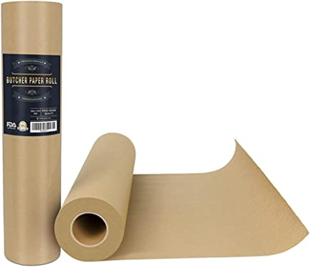 BESTONZON Butcher Kraft Paper Roll for Smoking BBQ Meats Cooking Paper in Durable Carry Tube